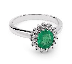 """Auksinis žiedas su Brangakmeniais """"Smaragdas 5"""""""