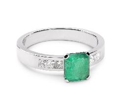 """Auksinis žiedas su Brangakmeniais """"Karališkasis Smaragdas II"""""""