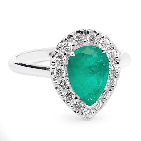 """Auksinis žiedas su Brangakmeniais """"Karališkasis Smaragdas"""""""