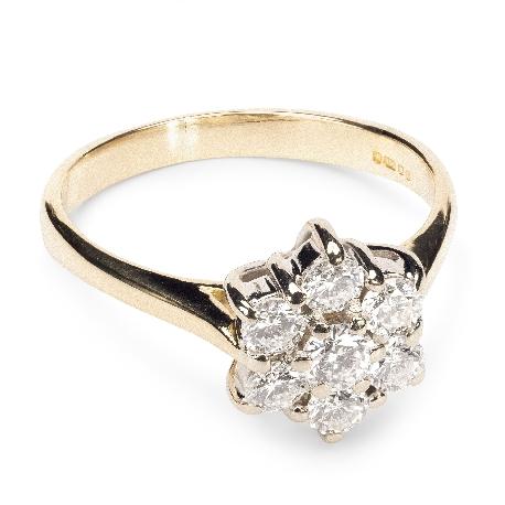 """Auksinis žiedas su Briliantais """"Briliantinė gėlė 4"""""""