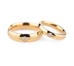 "Golden wedding rings with diamonds ""VKA 134"""