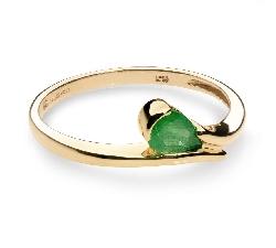 """Auksinis žiedas """"Smaragdinis lašelis"""""""