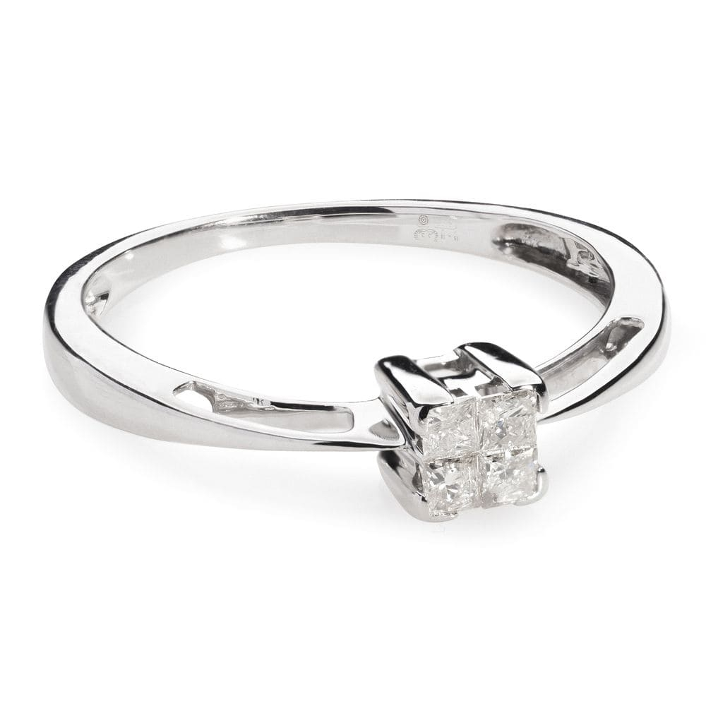 "Engagement ring with diamonds ""Princesses II"""