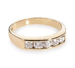 """Auksinis žiedas su Briliantais """"Deimantinė juostelė 11"""""""