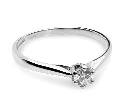 Balto aukso sužadėtuvių žiedas su Briliantais