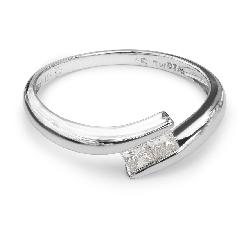 """Auksinis žiedas su Briliantu """"Meilės glėbyje 5"""""""