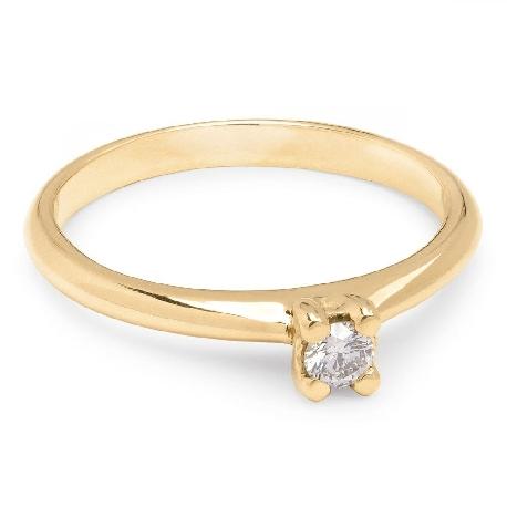 """Auksinis žiedas su Briliantu """"Dievaitė 15"""""""