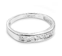 """Auksinis žiedas su Briliantais """"Deimantinė Juostelė 12"""""""