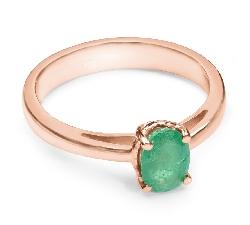 """Auksinis žiedas su Smaragdu """"Gamtos Vaikas"""""""