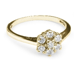 """Auksinis žiedas """"Briliantinė Gėlė 3"""""""