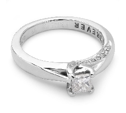 "Engagement ring with diamonds ""Princess 4"""