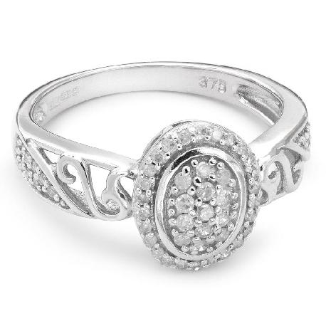 """Auksinis žiedas su briliantais """"Karūna 3"""""""