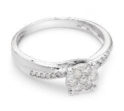 """Auksinis žiedas su Deimantais """"Gyvybė 7"""""""