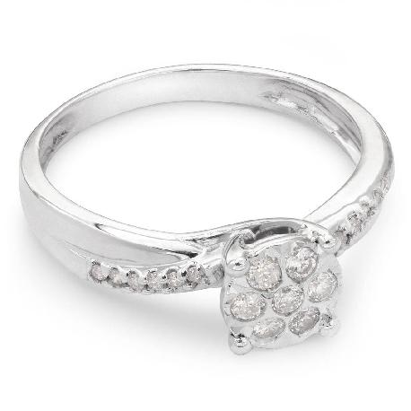 """Auksinis žiedas su Deimantais """"Gyvybė 6"""""""