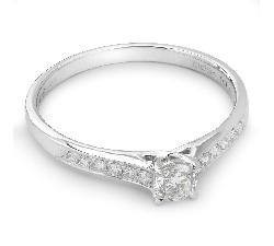 """Auksinis žiedas su Deimantais """"Grakštumas 22"""""""