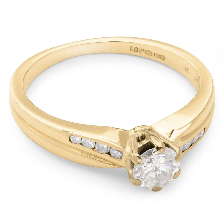 """Auksinis žiedas su Brangakmeniais """"Grakštumas 23"""""""