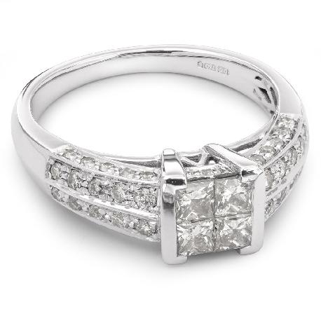 """Auksinis žiedas su Deimantais """"Princesės 6"""""""