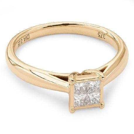 """Auksinis žiedas su Briliantu """"Princesės 7"""""""
