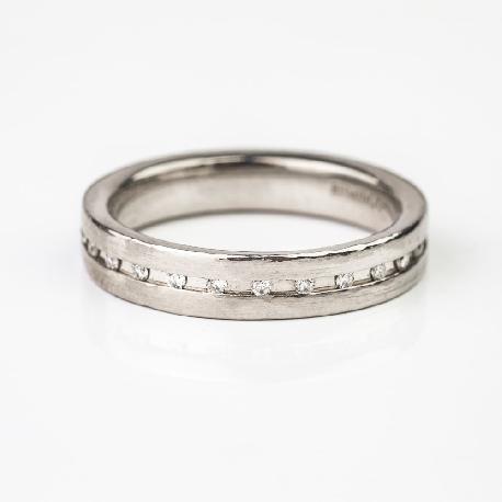 """Paladžio žiedas su Briliantais """"Deimantinė Juostelė 11"""""""