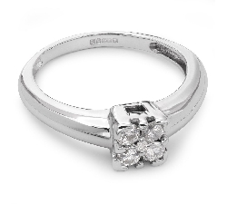"Engagment ring with brilliants ""Diamond flower 8"""