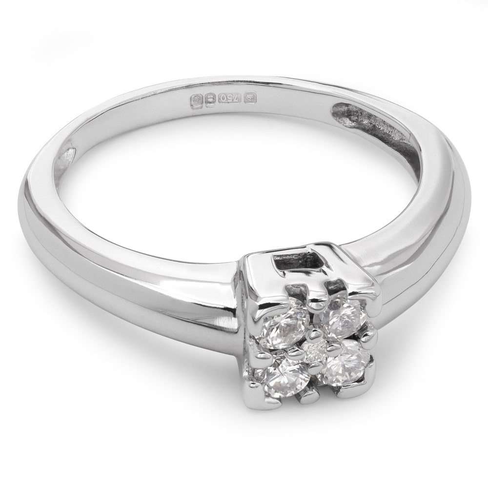 """Engagment ring with brilliants """"Diamond flower 8"""""""