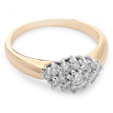 """Auksinis žiedas su Briliantais """"Gėlė 2"""""""