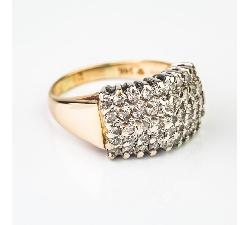 """Auksinis žiedas su Briliantais """"Briliantų Puokštė 4"""""""