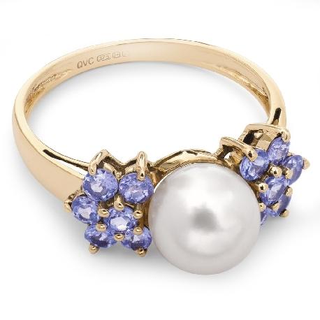 """Auksinis žiedas su Brangakmeniais """"Perlas"""""""
