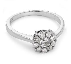 """Auksinis žiedas su Briliantais """"Briliantinė Gėlė 6"""""""