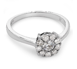 "Engagment ring with brilliants ""Diamond flower 10"""