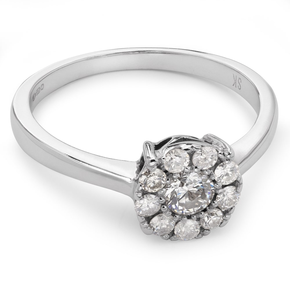 """Engagment ring with brilliants """"Diamond flower 10"""""""
