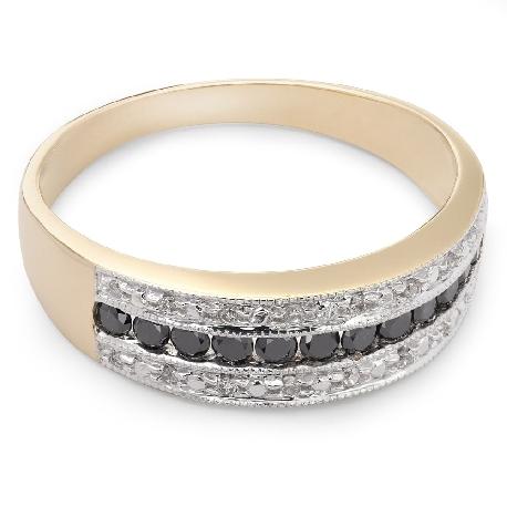 """Auksinis žiedas su Deimantais """"Deimantinė Juostelė 15"""""""