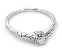 """Auksinis žiedas su Deimantais """"Grakštumas"""""""