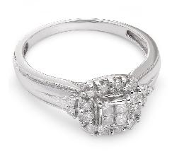 """Auksinis žiedas su Deimantais """"Briliantų puokštė 2"""""""