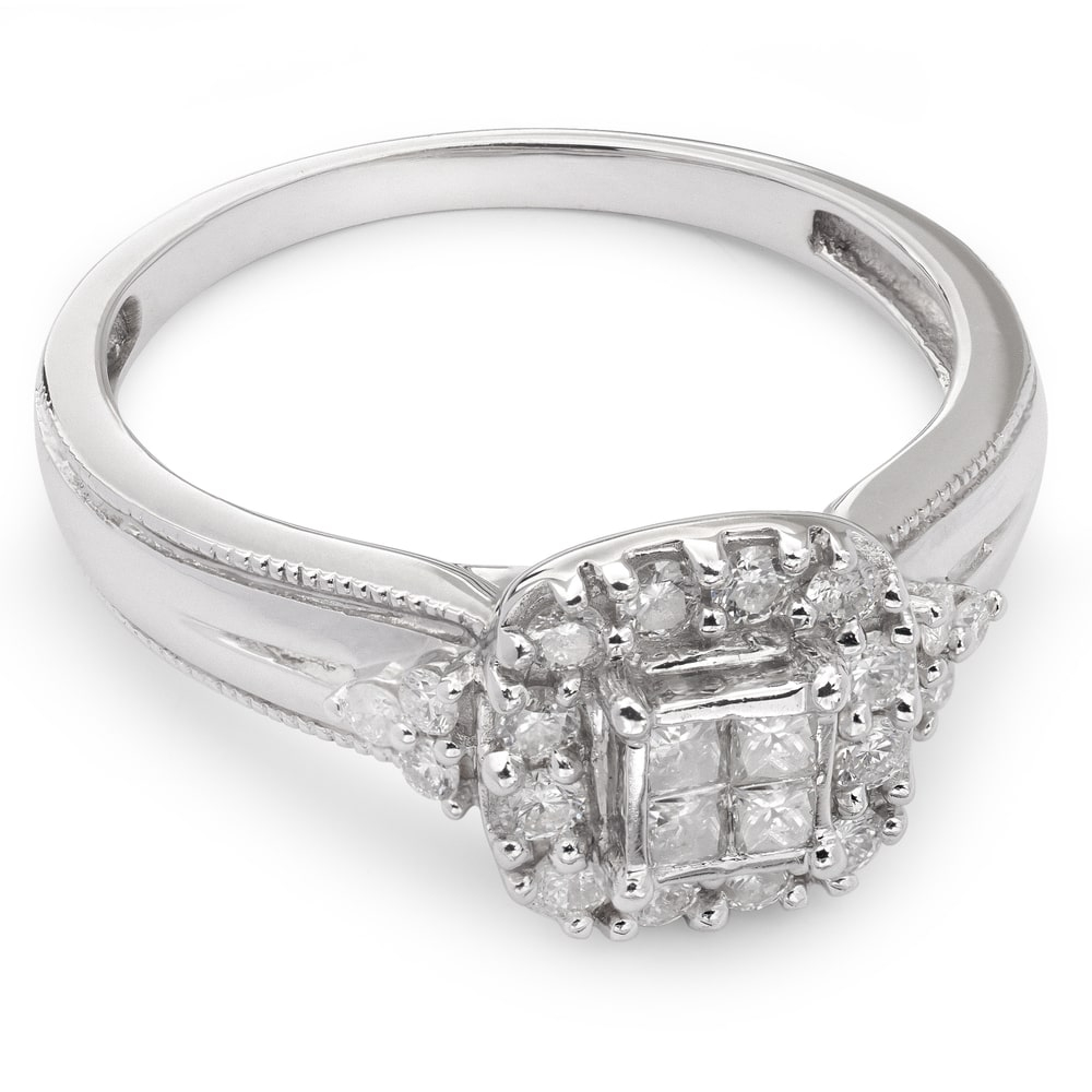 """Engagement ring with diamonds """"Bouquet of diamonds 2"""""""