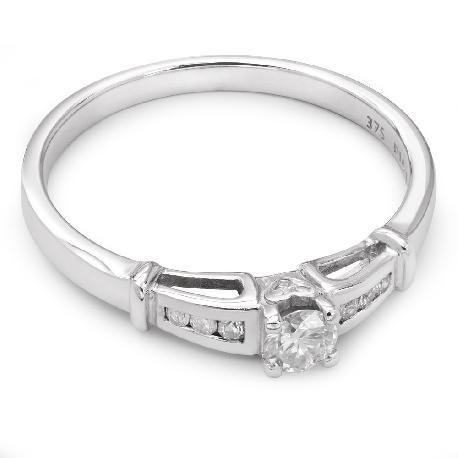 """Auksinis žiedas su Deimantais """"Grakštumas 9"""""""