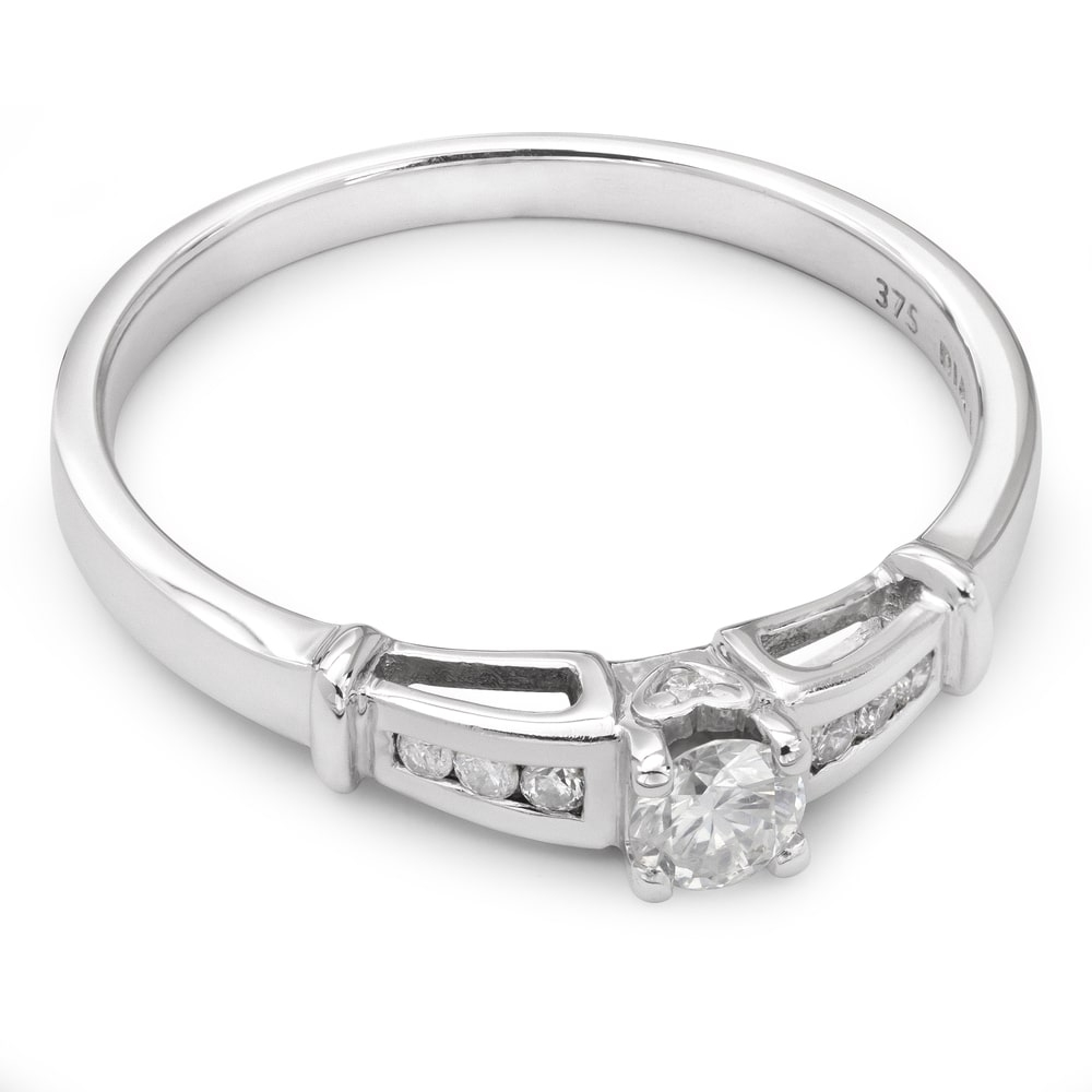 """Engagment ring with brilliants """"Grace 9"""""""