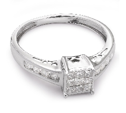 """Auksinis žiedas su Deimantais """"Princesės 13"""""""