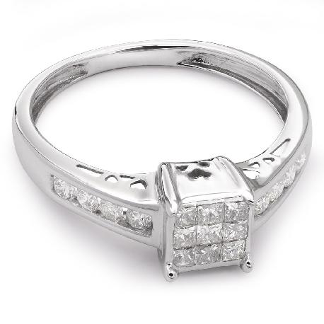 """Auksinis žiedas su Deimantais """"Princesės 12"""""""