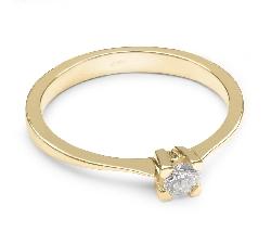 """Auksinis žiedas su Deimantais """"Tvirtybė"""""""