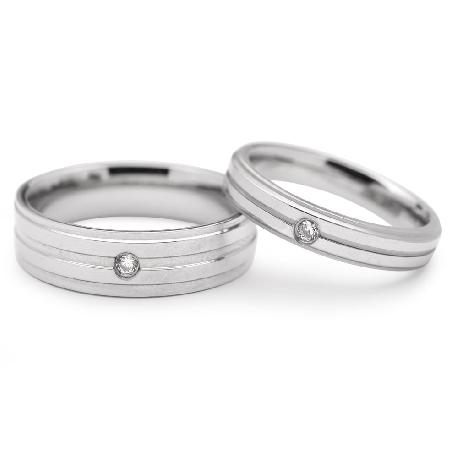 "Golden wedding rings with diamonds ""VMA 113"""