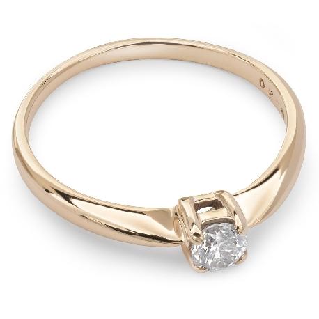 """Auksinis žiedas su Deimantu """"Tvirtybė 29"""""""