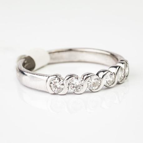 """Auksinis žiedas su Briliantais """"Deimantinė juostelė 5"""""""