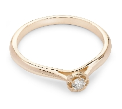 """Engagement ring with brilliant """"Diamond flower 12"""""""