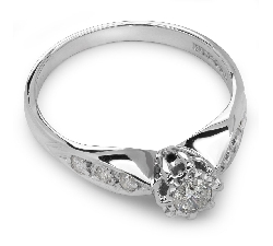 """Engagment ring with brilliants """"Grace 7"""""""