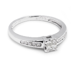 "Engagement ring with diamonds ""Princesses 17"""