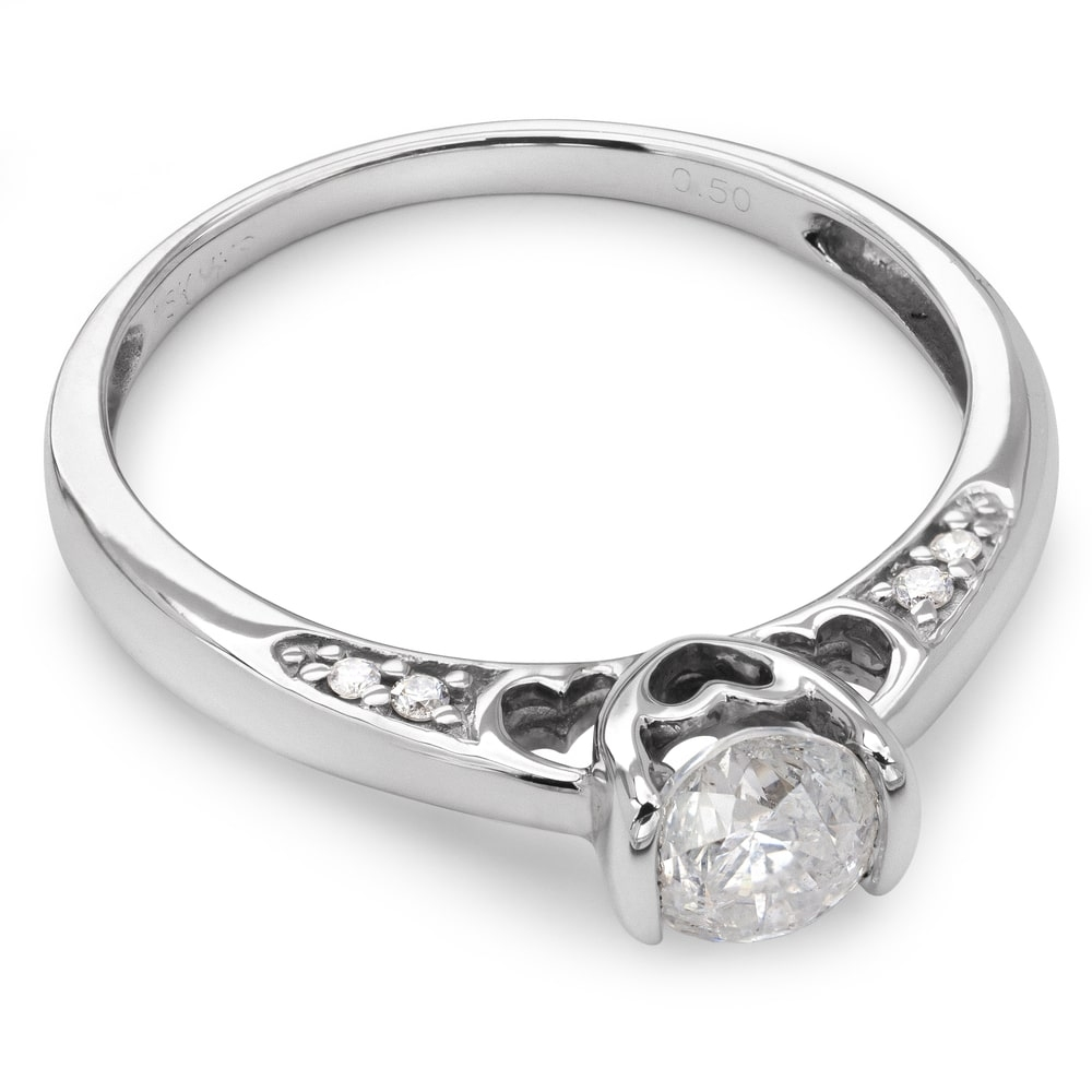 """Engagment ring with brilliants """"Grace 32"""""""