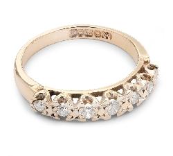 """Sužadėtuvių žiedas su Briliantais """"Deimantinė Juostelė 17"""""""