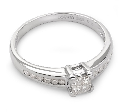 "Engagement ring with diamonds ""Princesses 21"""