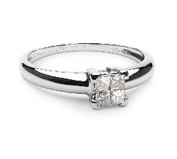 """Engagement ring with diamonds """"Princesses 24"""""""